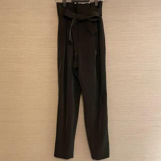 ラグナムーン(LagunaMoon)のLAGUNAMOON パンツ ブラック タック リボン S(カジュアルパンツ)