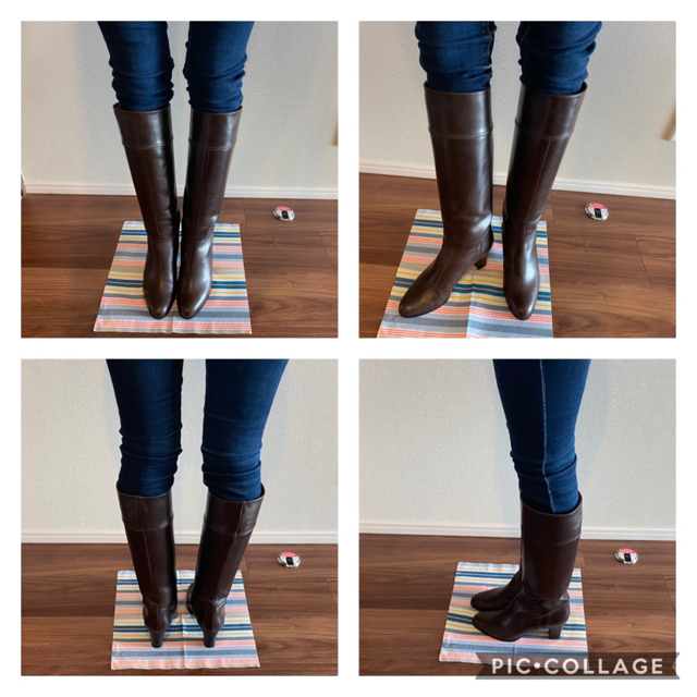 DIANA(ダイアナ)の★お値下げ★【DIANA】スムース ロングブーツ ダークブラウン レディースの靴/シューズ(ブーツ)の商品写真