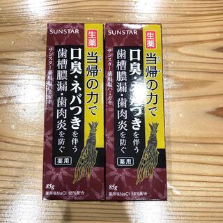 サンスター(SUNSTAR)のサンスター薬用塩ハミガキ 新品未使用 85g×2(歯磨き粉)