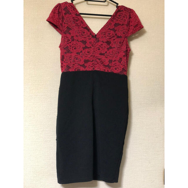 dazzy store(デイジーストア)のキャバドレス👗dazzystore👗ワインレッド✖黒👗 レディースのフォーマル/ドレス(ナイトドレス)の商品写真