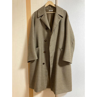 AURALEE DOUBLE FACE CHECK LONG COAT 4