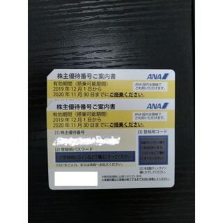 エーエヌエー(ゼンニッポンクウユ)(ANA(全日本空輸))のANA株主優待券(2021年5月末まで)2枚(航空券)