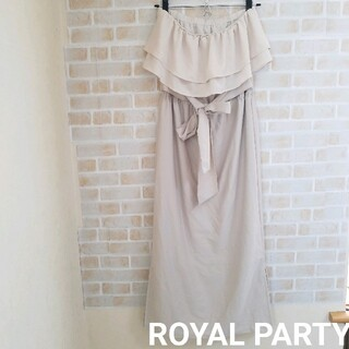ROYAL PARTY - ROYAL PARTY タグ付きロングベアワンピース