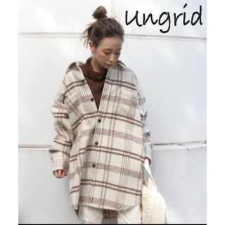 Ungrid - 【新品】アングリッド ungrid シャギーチェックルーズシャツ