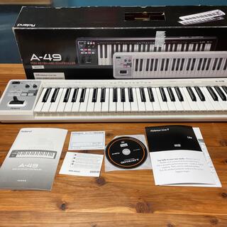 ローランド(Roland)のRoland A-49 MIDIキーボード ホワイト(MIDIコントローラー)