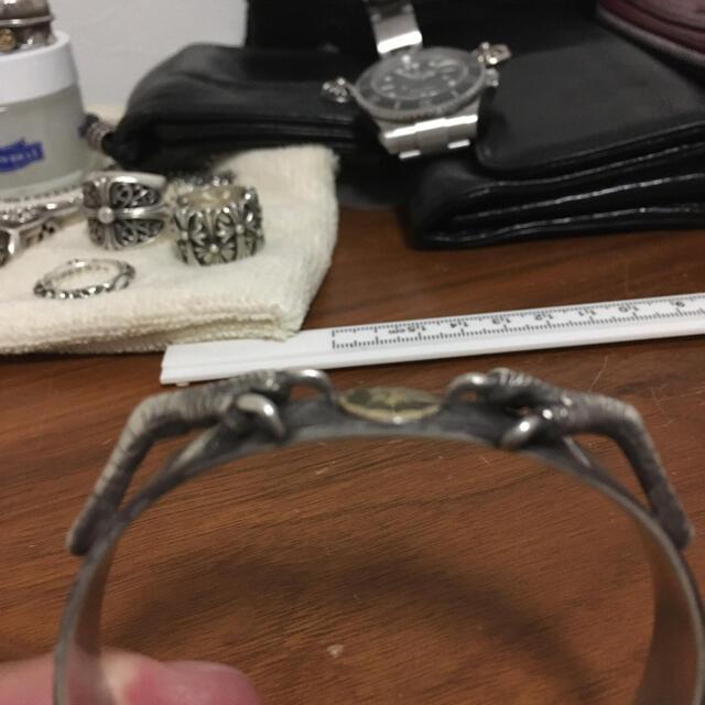 goro's(ゴローズ)の銀爪金メタル付平打ちブレス メンズのアクセサリー(ブレスレット)の商品写真