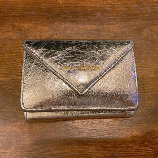 Balenciaga - BALENCIAGA バレンシアガ ペーパーミニウォレット 限定色シルバー 財布
