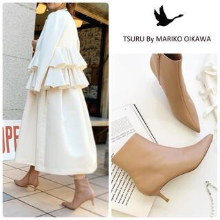 TSURU by Mariko Oikawa - 新作⭐︎雑誌掲載 ツルバイマリコオイカワ Alexisブーツ新品24.5ベージュ