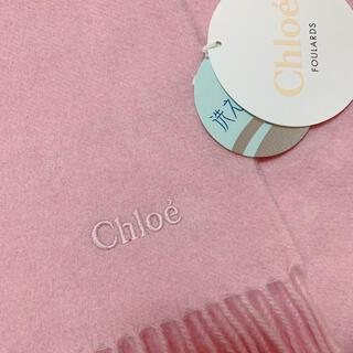 Chloe - クロエ  カシミヤ マフラー ストール ピンク 新品未使用