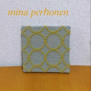ミナペルホネン(mina perhonen)のタンバリン ファブリックパネル 北欧 ハンドメイド(ウェルカムボード)