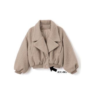 グレイル(GRL)のGRL ボアテーラードジャケット ベージュ 乃木坂46 齋藤飛鳥 アウター 冬(ブルゾン)