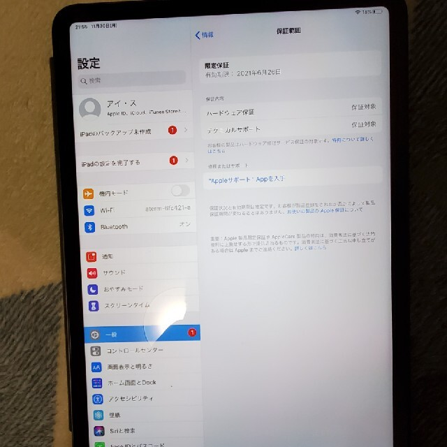 iPad(アイパッド)の保証付きipad pro 11インチ256GB 第一世代 wifiモデル スマホ/家電/カメラのPC/タブレット(タブレット)の商品写真