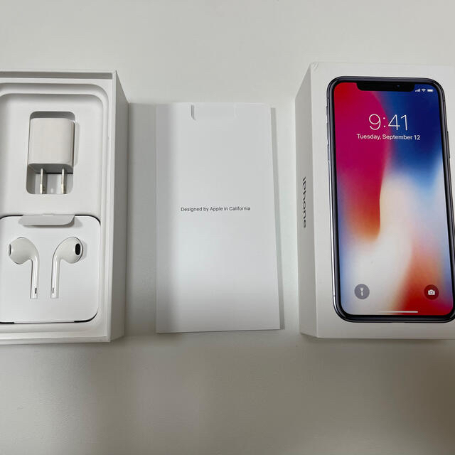 iPhone(アイフォーン)のiPhone X スペースグレイ 256GB SIMロック解除済 スマホ/家電/カメラのスマートフォン/携帯電話(スマートフォン本体)の商品写真