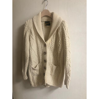 エディットフォールル(EDIT.FOR LULU)のvintage knit アランニットジャンティーク jantiques ロキエ(カーディガン)
