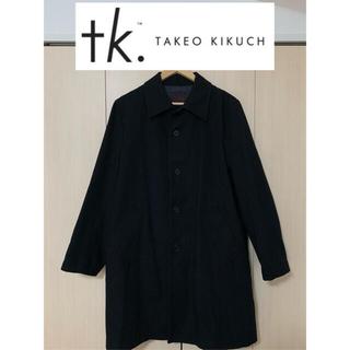 TAKEO KIKUCHI - 【定価9万円】TAKEO KIKUCHI ステンカラー コート 黒