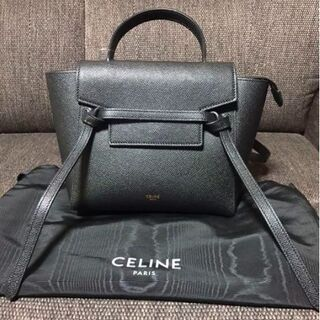 celine - celine ベルトバッグ ナノ ブラック