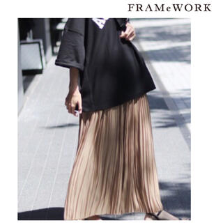FRAMeWORK - 【新品未使用 タグ付】フレームワーク glossyサテンプリーツスカート
