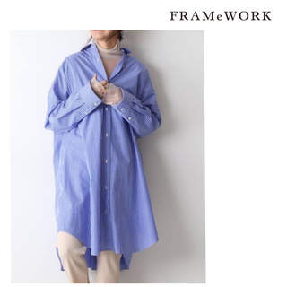 FRAMeWORK - 【新品未使用】 FRAMeWORK ビッグシャツ ブルー