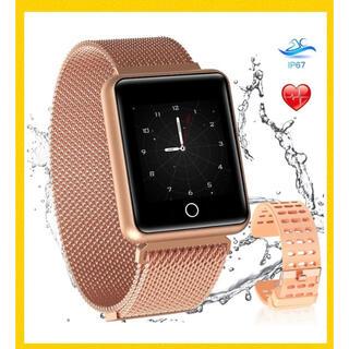 【 スマートウォッチ 1.3インチ シャンパンゴールド 】(腕時計(デジタル))