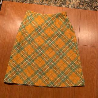 グリモワール(Grimoire)のチェックスカート 古着 ヴィンテージ vintage(ひざ丈スカート)