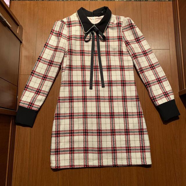 Honey mi Honey(ハニーミーハニー)のsister jane 襟付きワンピース チェック リボン レディースのワンピース(ミニワンピース)の商品写真