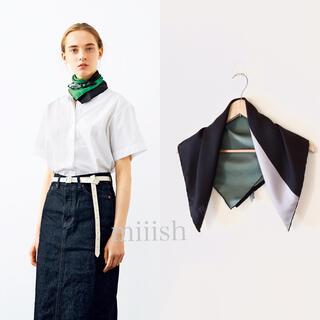 マーガレットハウエル(MARGARET HOWELL)の2018 イタリア製 マーガレットハウエル シルク100%スカーフ(バンダナ/スカーフ)