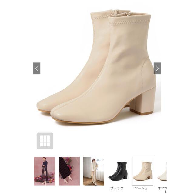 GRL(グレイル)のGRL ストレッチ 太 ヒール ショートブーツ レディースの靴/シューズ(ブーツ)の商品写真