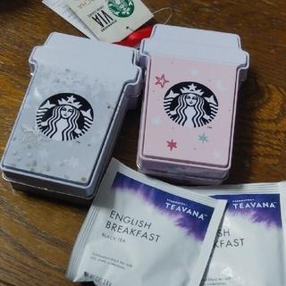 スターバックスコーヒー(Starbucks Coffee)の限定 スタバ クリスマス オーナメント 2個セット 紅茶2パック(その他)