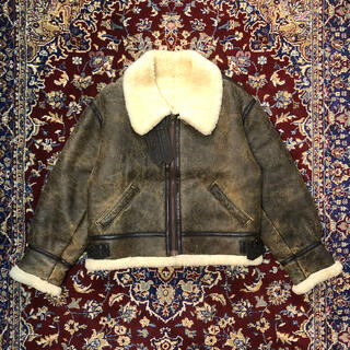 schott - VINTAGE box-silhouette B-3 mouton jacket
