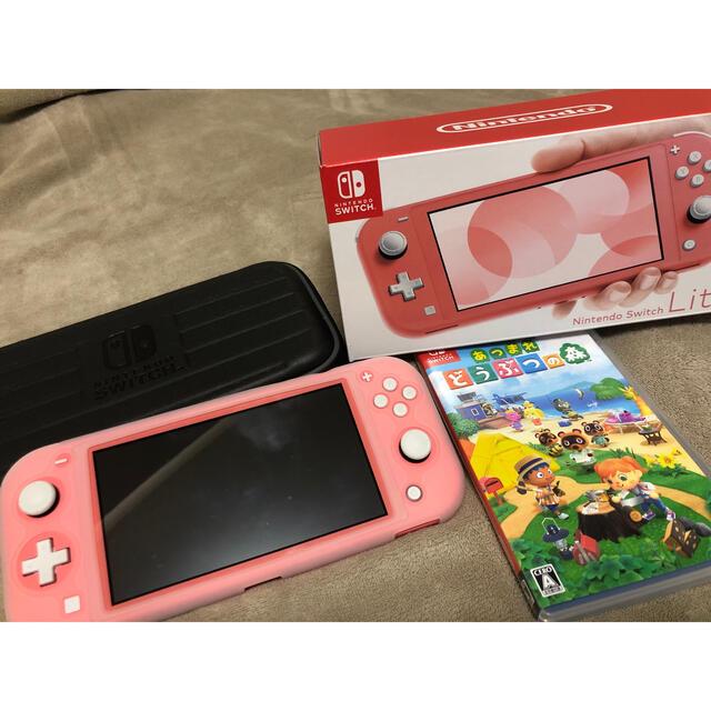 Nintendo Switch(ニンテンドースイッチ)のNintendo Switch  Lite コーラル エンタメ/ホビーのゲームソフト/ゲーム機本体(携帯用ゲーム機本体)の商品写真