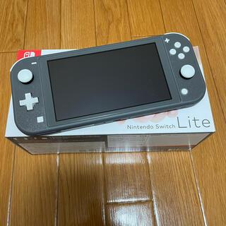 ニンテンドースイッチ(Nintendo Switch)のNintendoSwitch Liteグレー おまけ付き(家庭用ゲーム機本体)