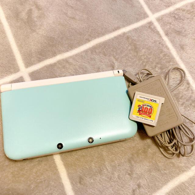 ニンテンドー3DS(ニンテンドー3DS)の3DS LL ソフト、アダプタ付き エンタメ/ホビーのゲームソフト/ゲーム機本体(携帯用ゲーム機本体)の商品写真