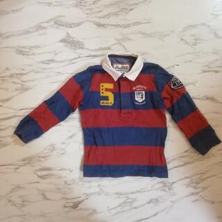ダブルビー(DOUBLE.B)のダブルビー ラガーシャツ 赤×紺 100(Tシャツ/カットソー)