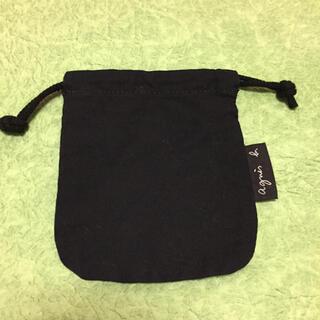 アニエスベー(agnes b.)のアニエス・ベー 巾着(黒)(ランチボックス巾着)