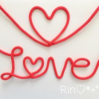 運命の赤い糸 LOVE&♡ 2点SET ウェディング(ウェルカムボード)