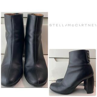 Stella McCartney - ステラマッカートニー ブラックレザー ブーツ