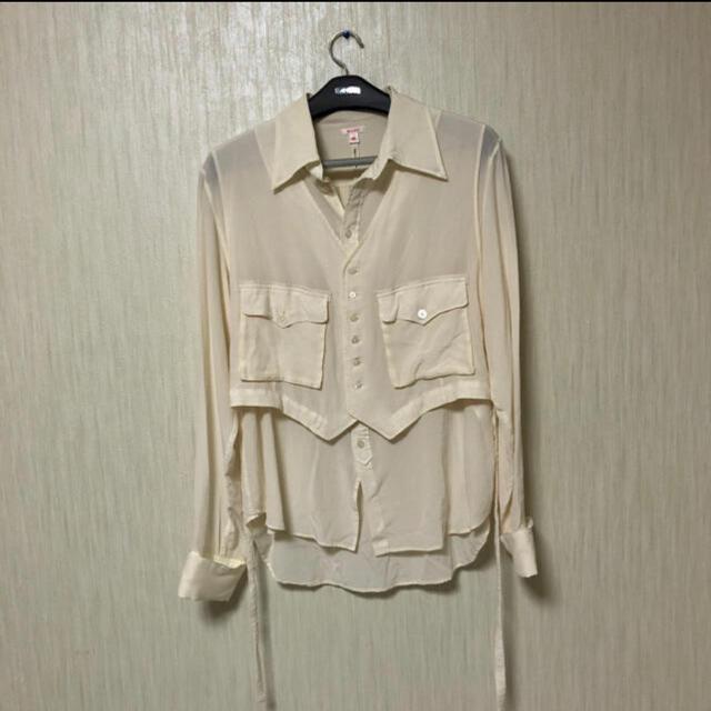 LAD MUSICIAN(ラッドミュージシャン)の19aw MASU レイヤード シルクシャツ サイズ46 メンズのトップス(シャツ)の商品写真
