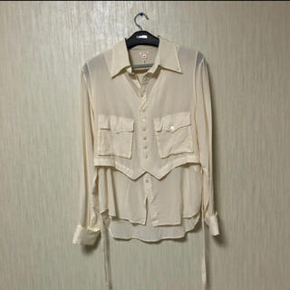 LAD MUSICIAN - 19aw MASU レイヤード シルクシャツ サイズ46