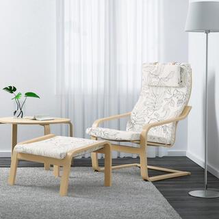 イケア(IKEA)のパーソナルチェア IKEA ポエング オットマン セット(ロッキングチェア)
