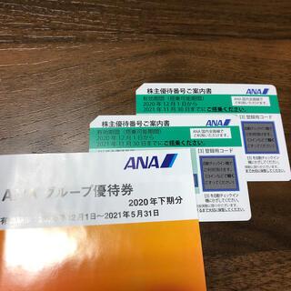 エーエヌエー(ゼンニッポンクウユ)(ANA(全日本空輸))のANA 株主優待券2枚 (航空券)
