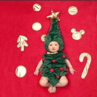 クリスマス ツリー 着ぐるみ コスプレ 寝相アート ベビー 仮装 ロンパース