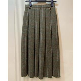 ルシェルブルー(LE CIEL BLEU)の新品タグ付 LECIELBLUE ウールプリーツスカート(ひざ丈スカート)