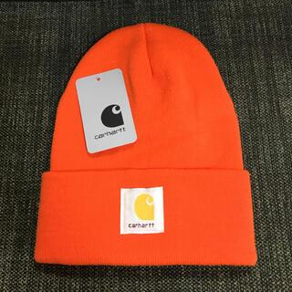 carhartt - 【新品】Carhartt ニット帽 MADISON LOGO CAP オレンジ