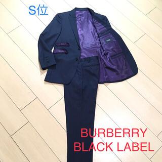 BURBERRY BLACK LABEL - 美品★バーバリーブラックレーベル×極上ネイビー ストライプスーツ 秋冬春A311