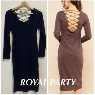 ROYAL PARTY - ★美品★ROYAL PARTY バックレースアップワンピース