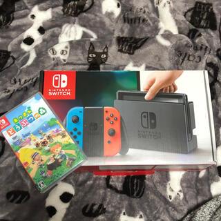 Nintendo Switch - 任天堂 switch あつまれどうぶつの森 セット 超美品 欠品なし
