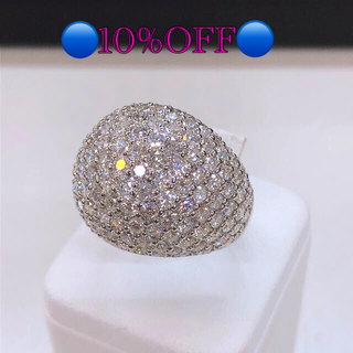 ご確認用。PT900パヴェダイヤリング ダイヤモンドリング ✨ダイヤ5カラット✨