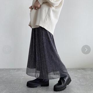 JEANASIS - JEANASiS シャイニープリーツナロースカート