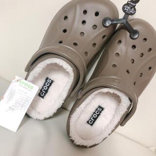 crocs - 新品 タグ付き クロックス  ボア付き レイレン ラインドクロッグ