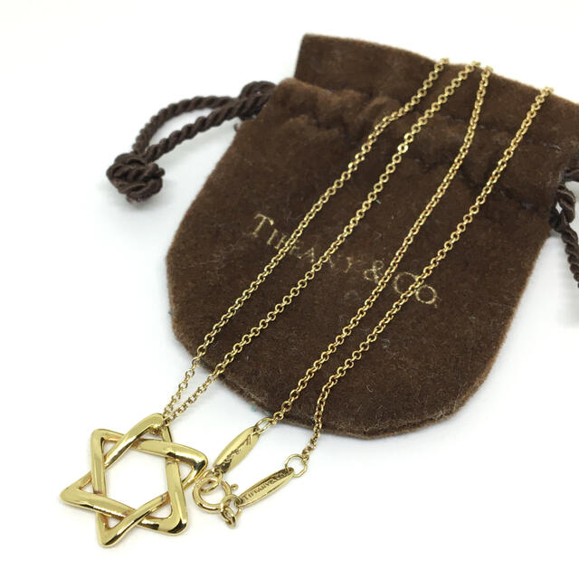 Tiffany & Co.(ティファニー)のティファニー スターオブダビデ ネックレス K18 六芒星 レディースのアクセサリー(ネックレス)の商品写真